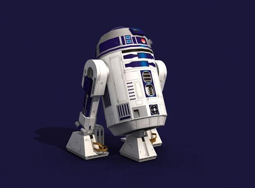 R2-D2 Printable Paper Craft