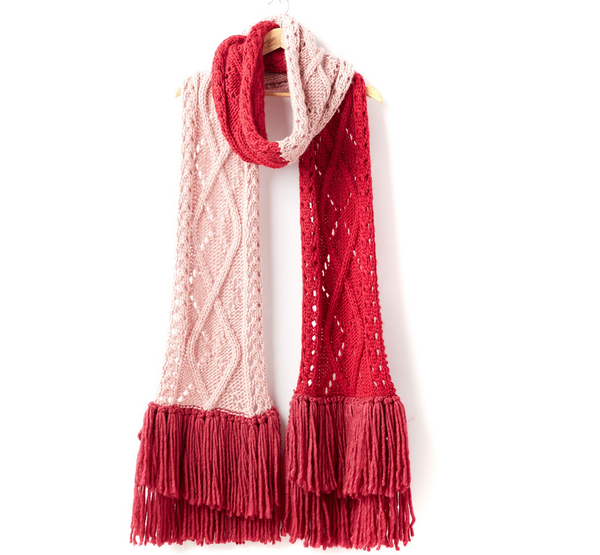 Cabled Lace Super Scarf