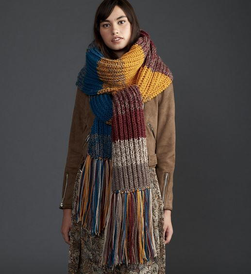 Super Stripes Easy Knit Scarf