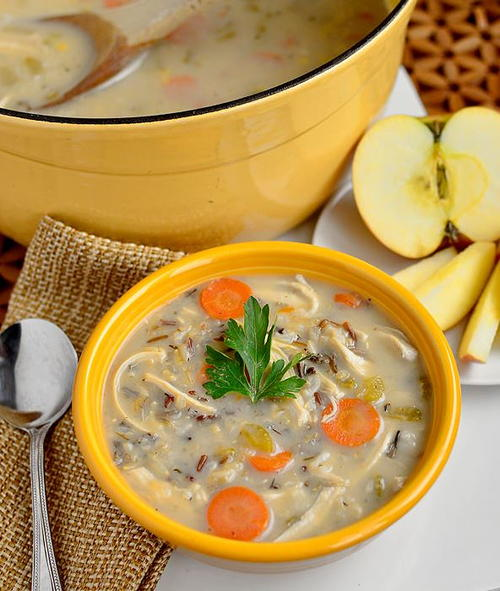 Just-Like Panera Chicken and Wild Rice Soup