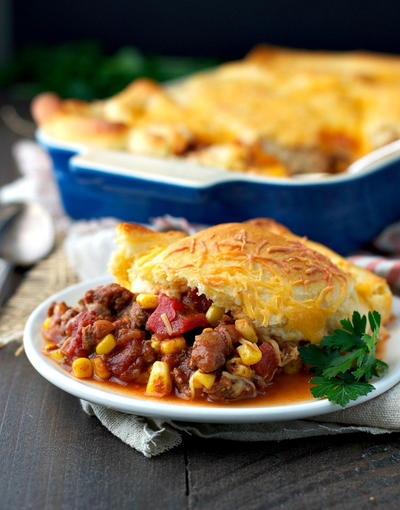 Mouth-Watering Chili Crescent Roll Bake