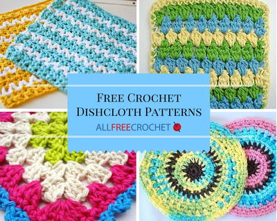 51 Free Crochet Dishcloth Patterns
