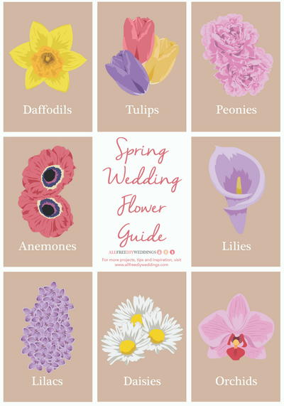 Spring Wedding Flower Guide Allfreediyweddings Com