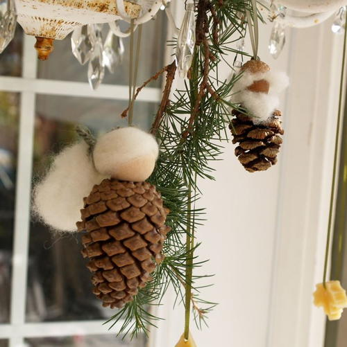 Gran & Gramps Gnome Pine Cone Ornaments