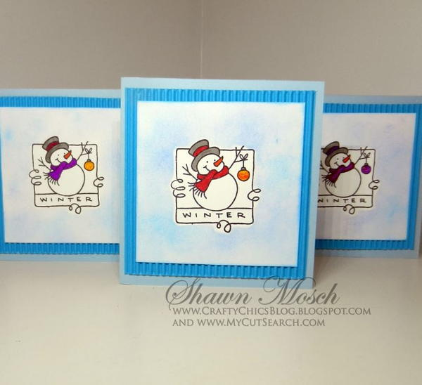 Simple Stamped Snowman Cards