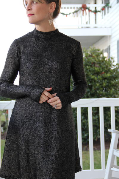 9ec8b8e6 Mock Turtleneck Dress Tutorial | AllFreeSewing.com