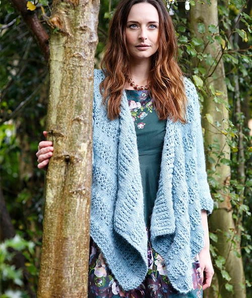Waterfall Cardigan Knitting Pattern
