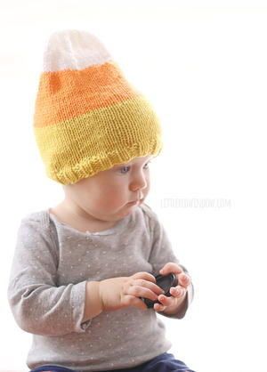 Sweet Candy Corn Knit Hat