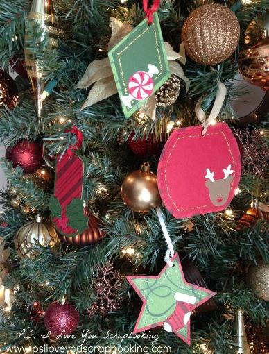 Cute Die Cut DIY Christmas Tags