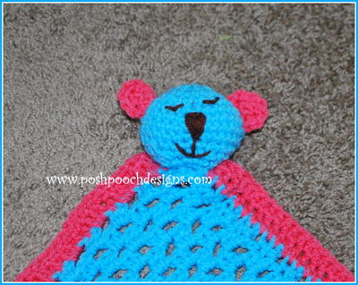 Sleepy Bear Teether Lovey Crochet Pattern