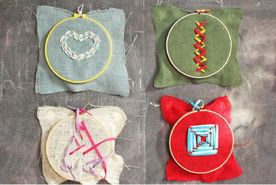 Kids Burlap Embroidery