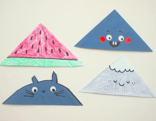 Easy and Cute Envelope Corner Bookmarks