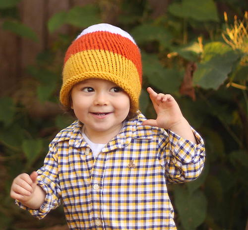 Toddler Candy Corn Knit Hat