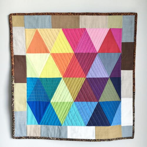 Rainbow Triangles Mini Quilt