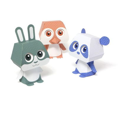Kawaii 3D Paper Animal Pal Printables