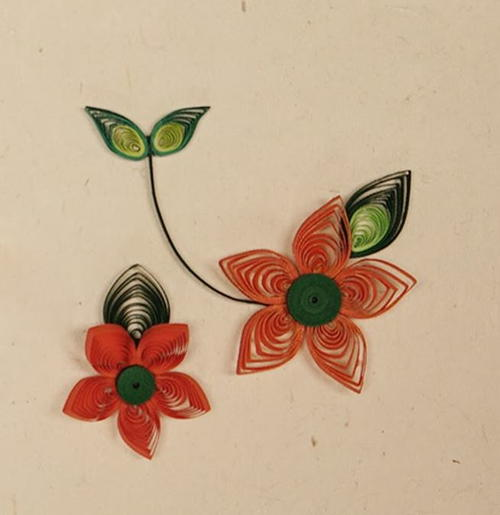 Foxy 3D Quilling Flowers