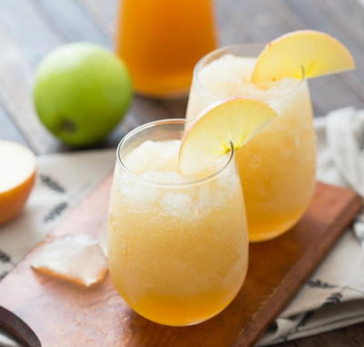 Caramel Apple Wine Slushies