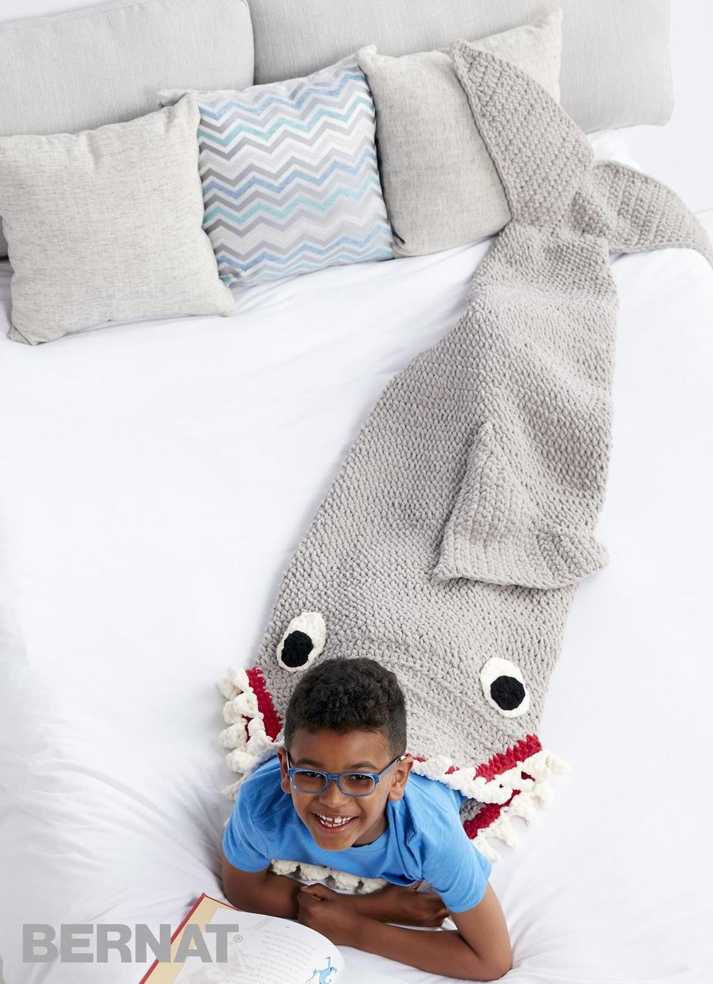 Sharkbite Crochet Snuggle Sack