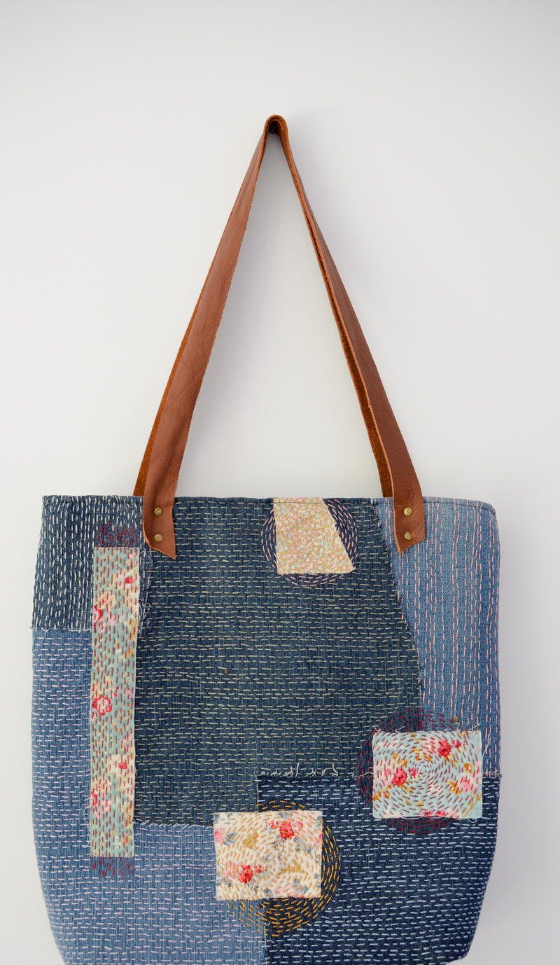 sashiko denim bag