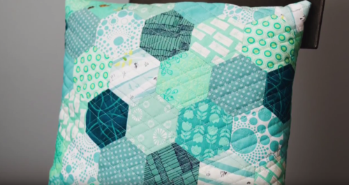 Paper Piecing Hexagons Sewing Technique