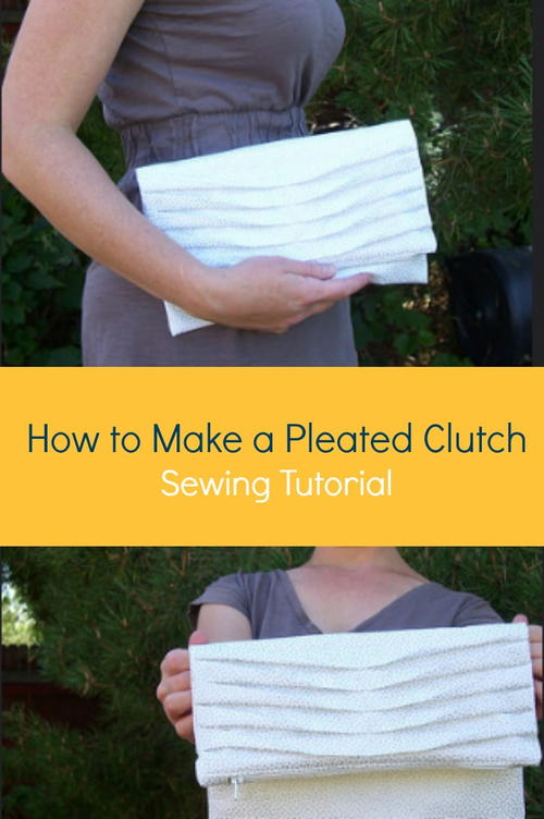 Pretty Pleated Clutch Tutorial