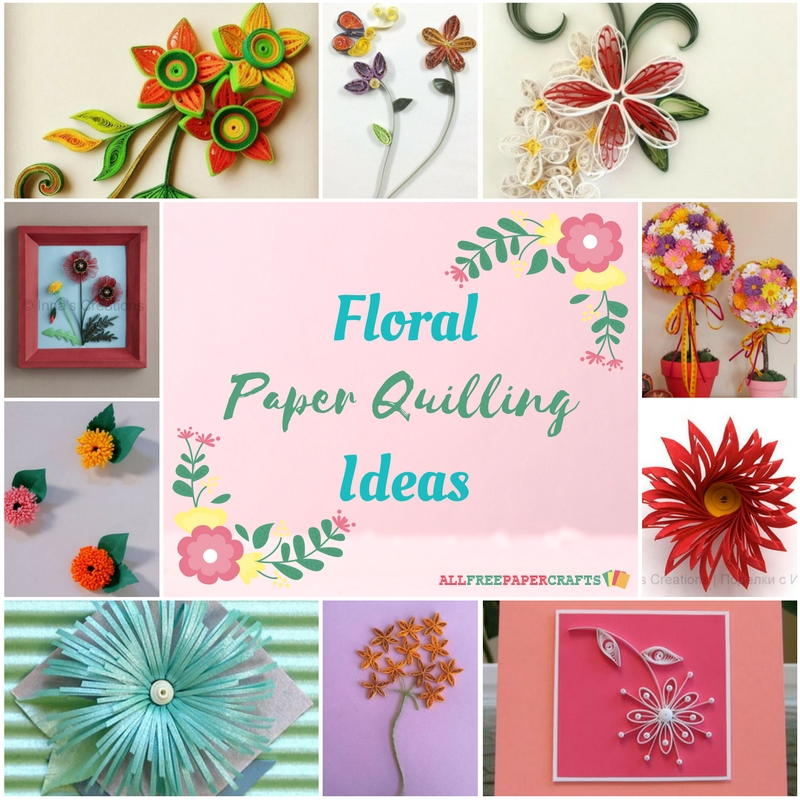 Quilling flowers 18 floral paper quilling ideas for Paper quilling paper