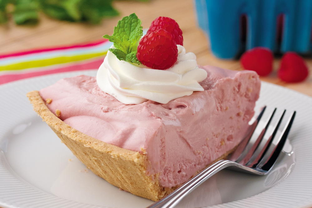 Raspberry Chiffon Pie Mrfood Com