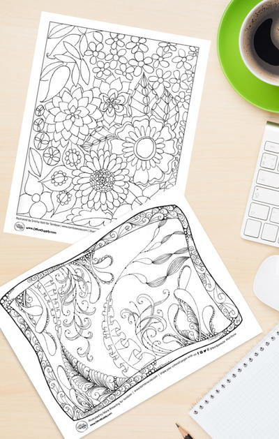 Two Fantastic Floral Coloring Pages