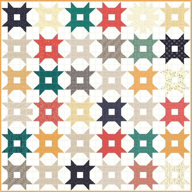 Domino Star Quilt Pattern Favequilts Com