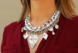 Layered Dazzling Statement Necklace
