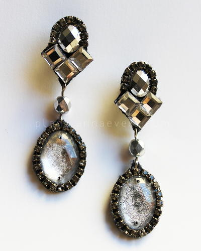 Vintage Blinged Drop Earrings
