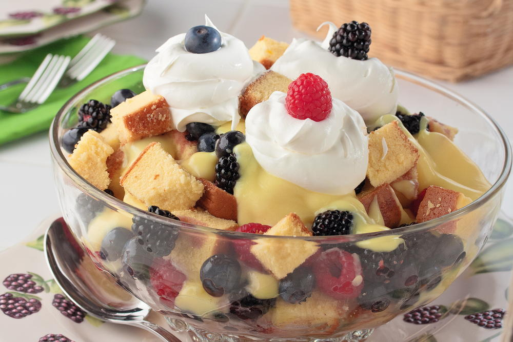 Mixed Berry Trifle | MrFood.com