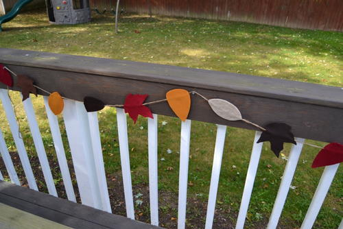 Fall Felt Leaf Garland