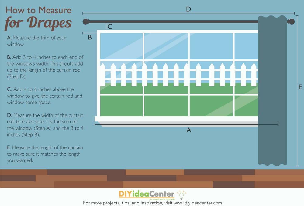 how to measure for drapes diyideacenter