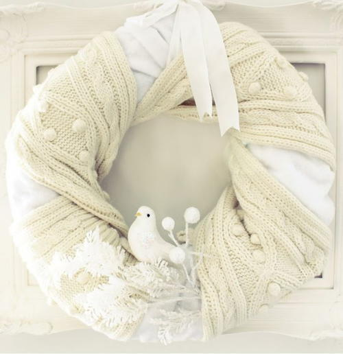Simplest Scarf-Wrapped DIY Wreath