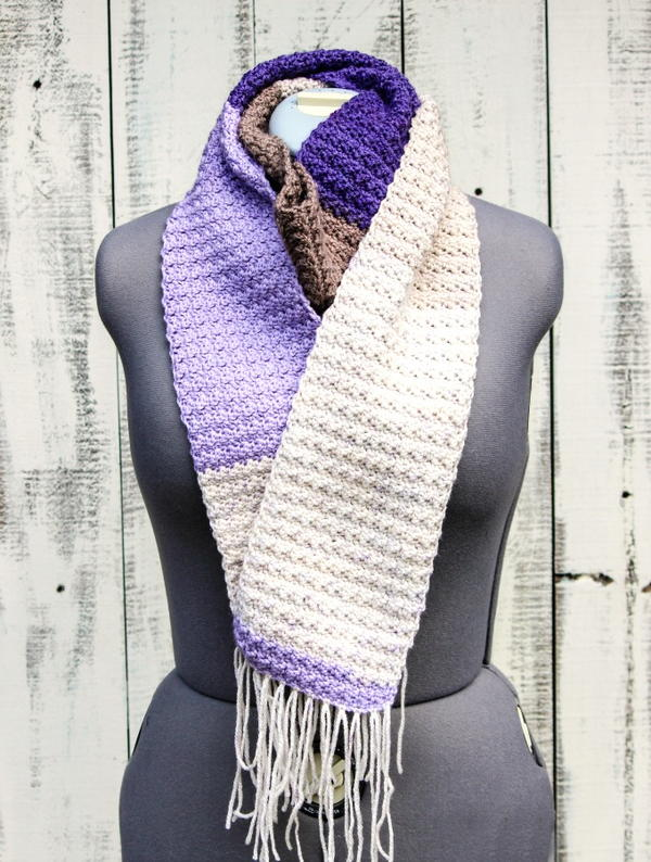 Crochet Lilac Frosting Scarf
