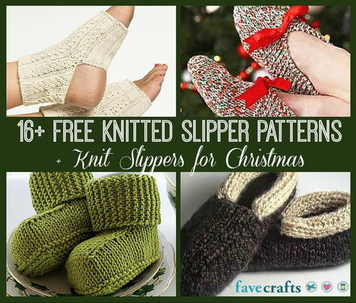 16 Free Knitted Slipper Patterns + Knit Slippers for Christmas