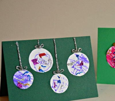 Artsy Bauble Kid-Made Christmas Cards