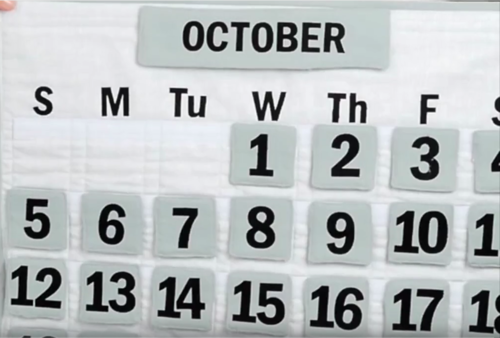 Easy Reusable Quilted DIY Calendar