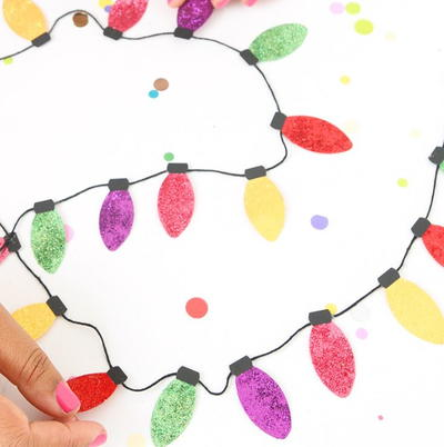 Classic Christmas Light Paper Garland
