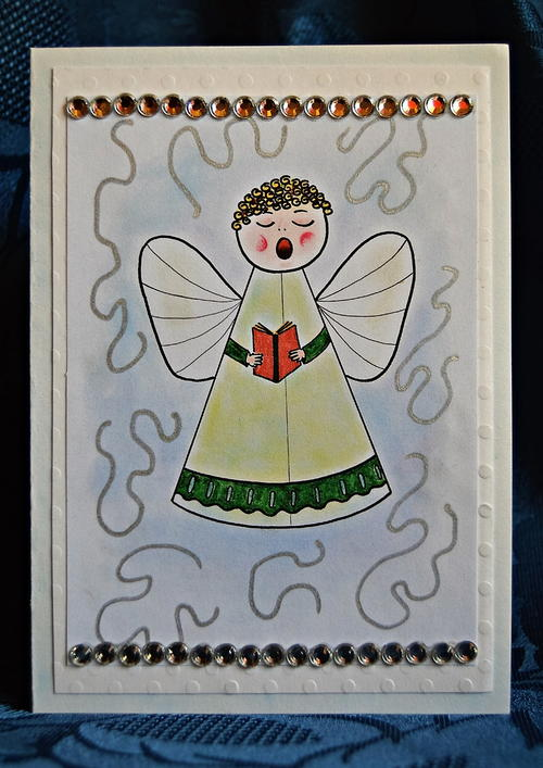 Angel-a-Singing DIY Christmas Card