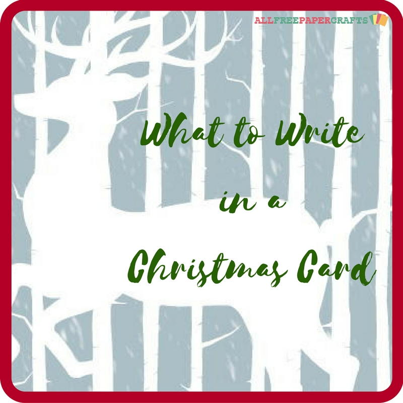 What to write in a christmas card allfreepapercrafts m4hsunfo