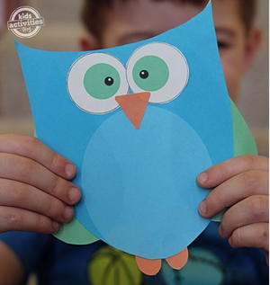 Cute and Easy Printable Owl Template
