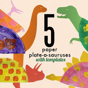 Printable Paper Plate Dinosaur Craft