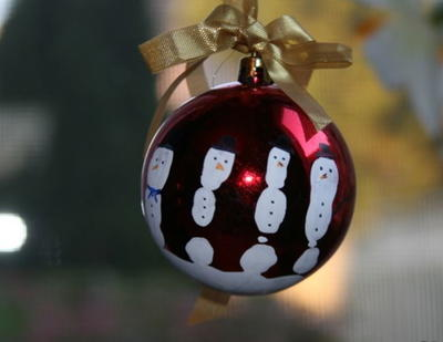 Five Fingers Snowman Ornament