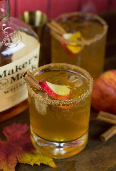 Bourbon Apple Cider Fall Cocktail