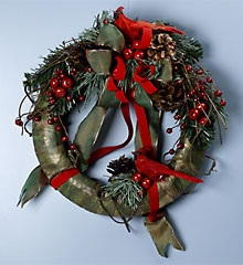 Cardinal Christmas Wreath