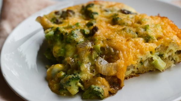 Magical Crescent Roll Breakfast Casserole
