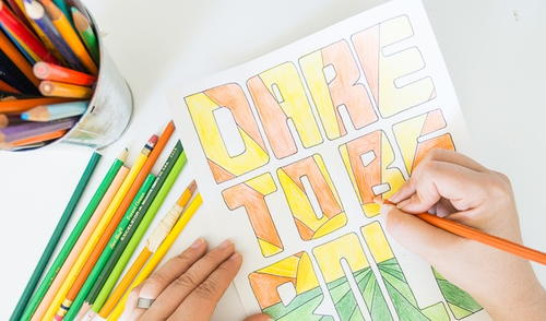 Be Bold Coloring Page