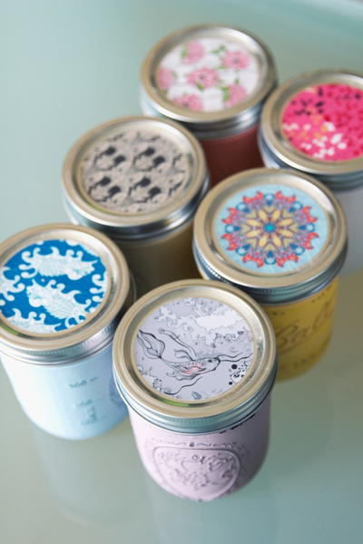 Painted Mason Jar Scented Candles